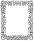Black and white frame — Stock Vector