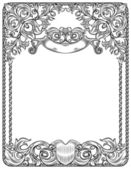 Black and white frame for blank — Stock Vector