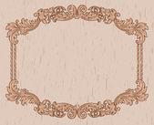 Vintage brown frame — Stock Vector