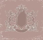 Heraldic emblem — Stock Vector