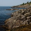 Stock Photo: Coastline of Ladoglake