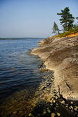 The Russian lake Ladoga — Stock Photo