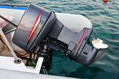 The motor boat engine — Stock Photo
