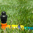 Lawn with Sprinkler — Stock Photo #5595791