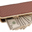 Stock Photo: Dollars in wallet