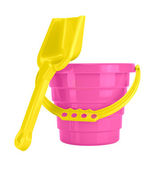Children's Sand Bucket and Shovel — Stock Photo