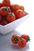 Mísa cherry rajčat — Stock fotografie