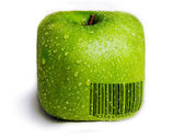Isolated square Green Apple — Stock Photo