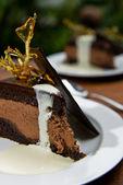 Cake and Cream — Stock Photo