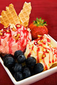 Ice Cream Sundae — Stock Photo