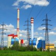 Coal-burning power plant - Stock Photo
