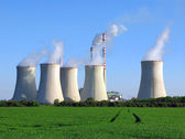 Coal-burning power plant — Stock Photo
