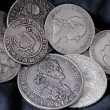 Old silver coins — Foto Stock #5941064