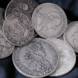 Stockfoto: Old silver coins