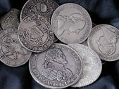Old silver coins — Stockfoto