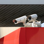 Security cameras — Stock Photo