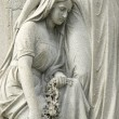 Statue of Mourning Woman at Cemetery — Stock Photo
