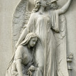 Marble Statue of Mourning Woman and Angel — Stock Photo #5432563