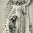 Marble Statue of Mourning Womand Angel — Stock Photo #5432563