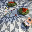 John Lennon Monument — Stock Photo