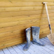 Shovel and gumboots — Stock Photo #5388395