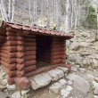 Wooden shelter - Stock Photo