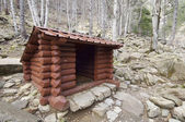 Wooden shelter — Stock Photo