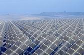 Huge solar energy field — Stock Photo