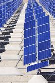 Pannelli fotovoltaici — Foto Stock