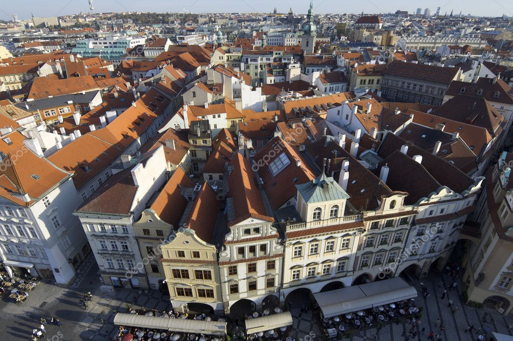 View of a typical house in the city of Prague, Czech Republic  Stock Photo #5391556