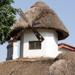 Thatched peasant hut - Stock Photo