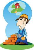 Builder — Stock Vector