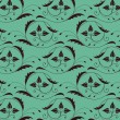 Seamless vintage pattern with color of sea — Векторная иллюстрация