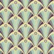 Seamless geometric pattern in yellow-violet colors — Imagen vectorial