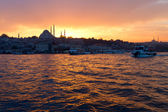 View of center of Istanbul by night. — Stock Photo