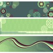 Abstract green banners — Stock Vector
