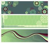 Abstracte groene banners — Stockvector
