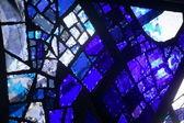Blue glass reflection — Stock Photo