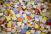 Mosaico de azulejos coloridos — Foto Stock
