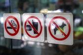 Warning signs — Stock Photo