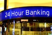 City bank signs — Stock Photo
