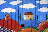 Children paintings — Stock Photo