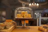 Káva koláče — Stock fotografie