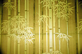Bamboo paper window — Stock Photo