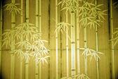 Bamboo paper window — Stock Photo