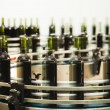 Stock Photo: Bottle filling line