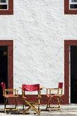 Rozkładane krzesła — Zdjęcie stockowe
