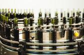 Bottle filling line — Stock Photo