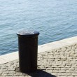 Quayside bollard - Stock Photo