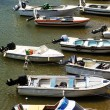 Motorboats moored — Stock Photo